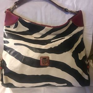 Zebra Print and Red Dooney and Bourke Purse